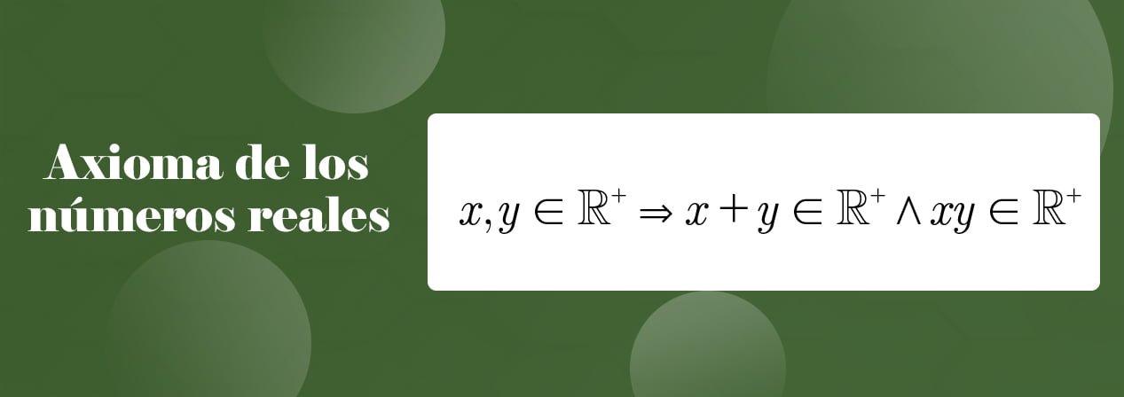 axioma de los números reales