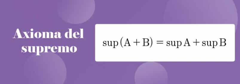 ¿Que es el axioma del supremo?