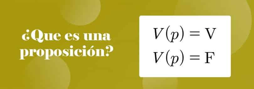 ¿Que es una proposición en matemática?