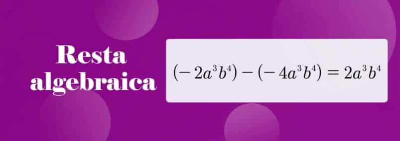 ¿Que es la resta algebraica?